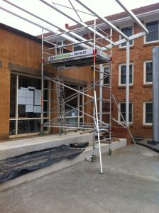scaffold-on-stairs